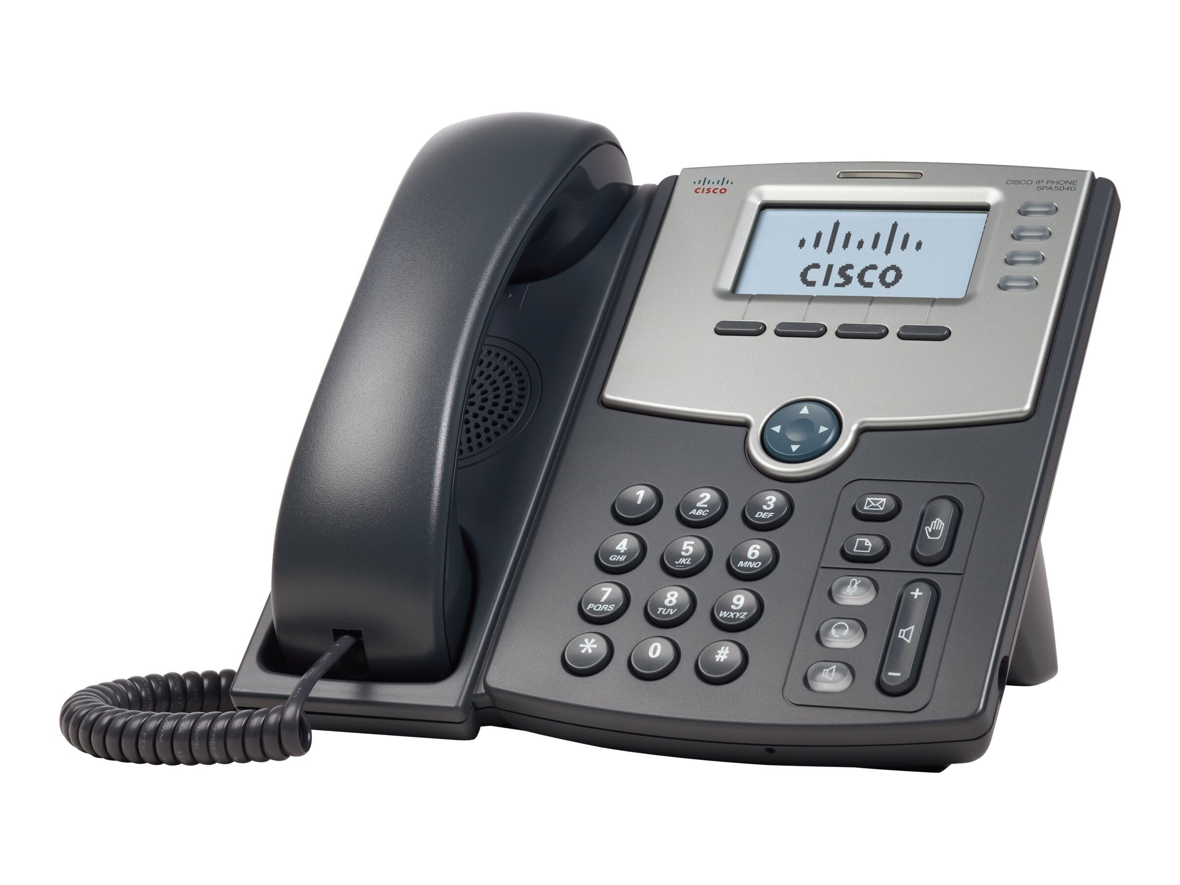 Cisco SPA504G 4-Line IP Phone with 2-Port Switch, PoE and LCD Display, SPA504G, 10081617, VoIP Phones