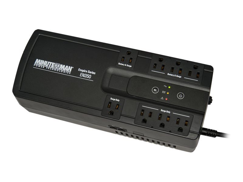 Minuteman 350VA Enspire Series UPS (4) Battery Surge Outlets, USB