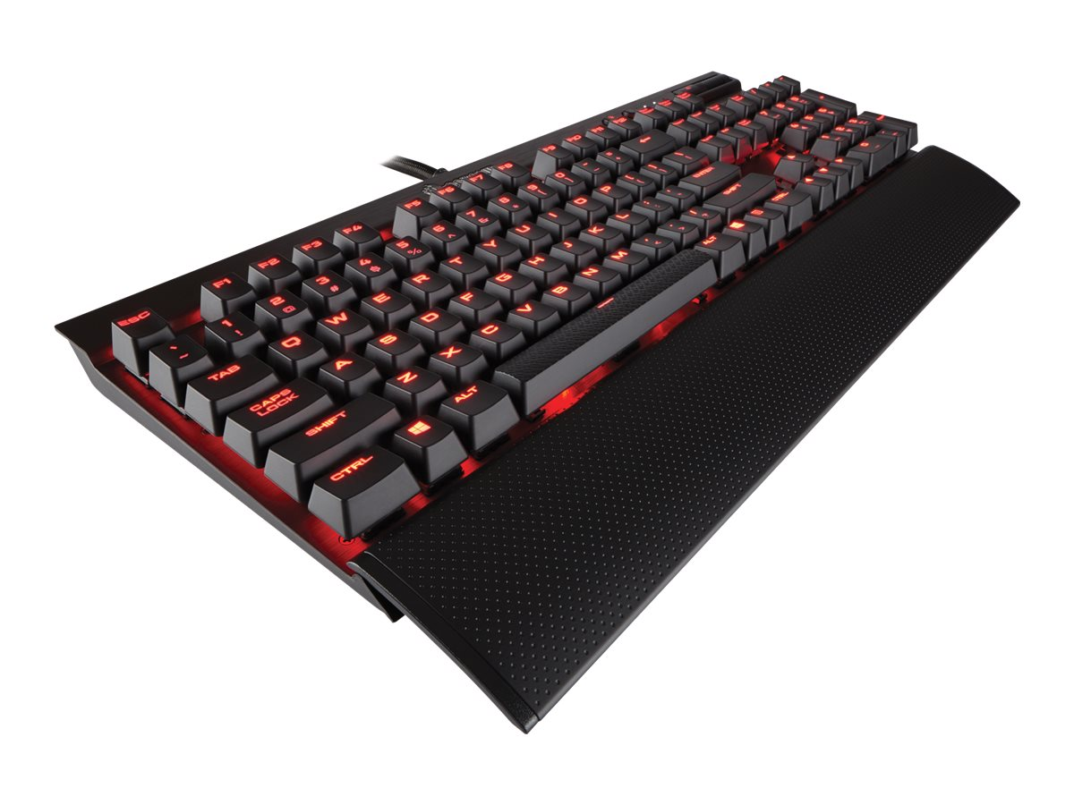 Corsair Gaming K70 Lux LED Keyboard Backlit Red Cherry Mx Brown, CH-9101022-NA
