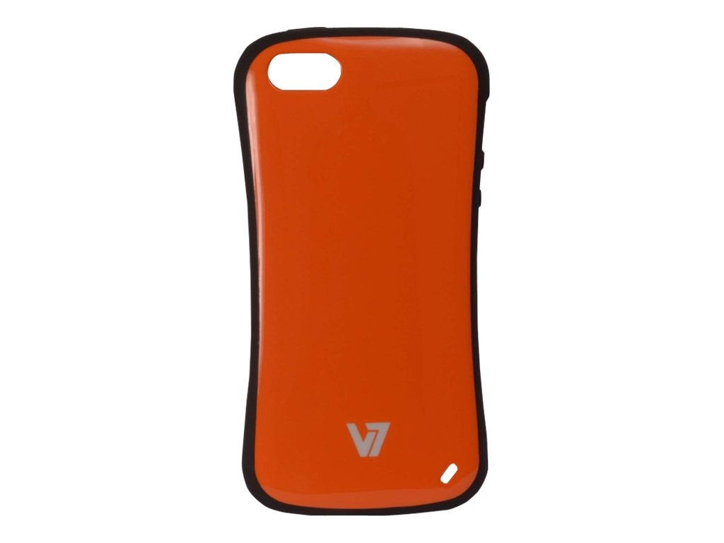V7 Slim Survivor Bumper Hard Shell Protective PC PU Cover Case for iPhone 5, Orange, PA19SORG-2N