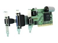 Brainboxes 2-Port RS232 Low Profile PCI Serial Port Card with LPT Parallel Port