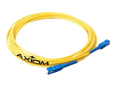 Axiom LC-SC 50 125 OM3 Multimode Duplex Cable, Aqua, 1m