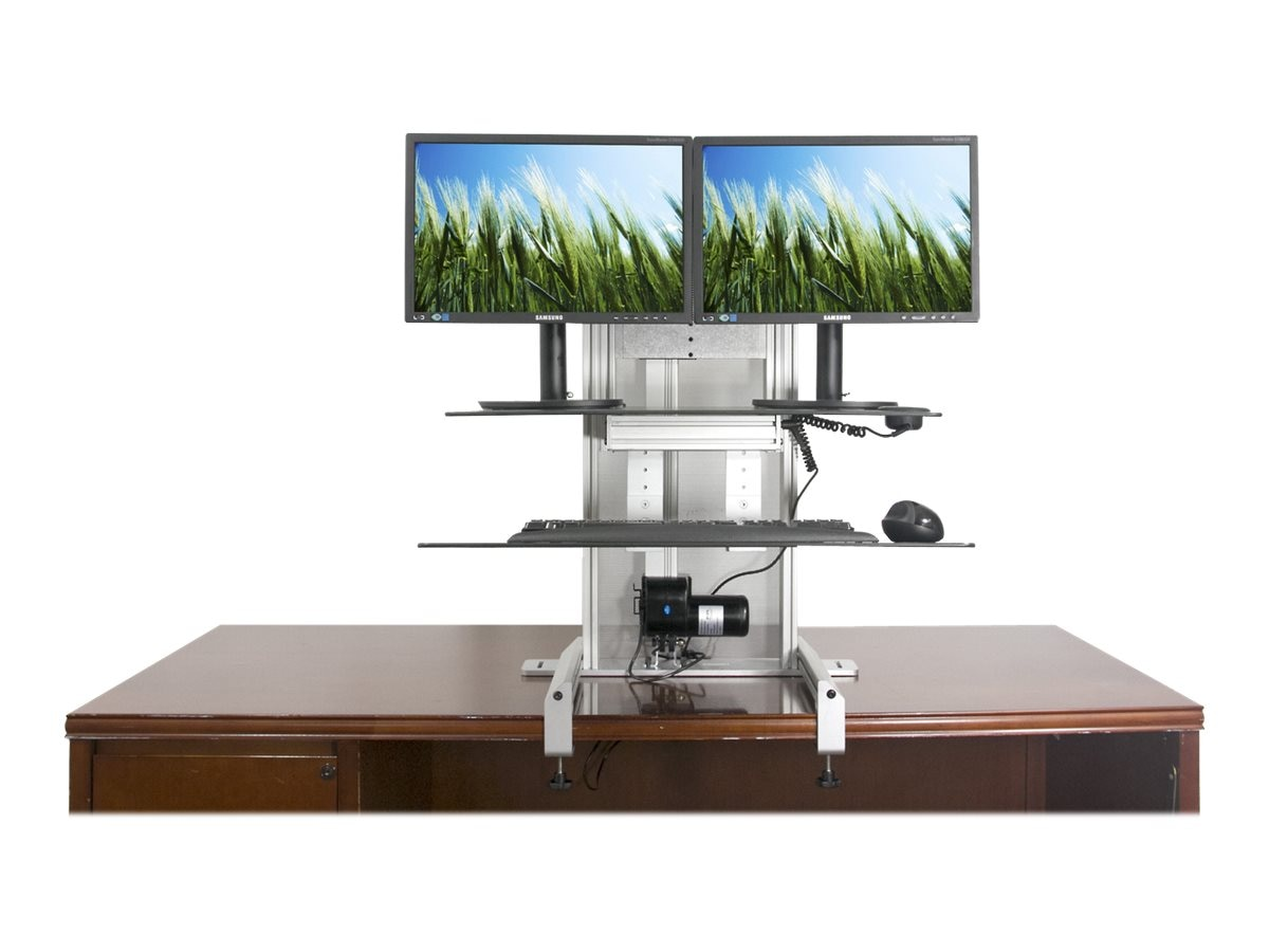 Ergotech One Touch Drop Down Sit-Stand Workstation, 700-DROP-G, 18791154, Stands & Mounts - AV