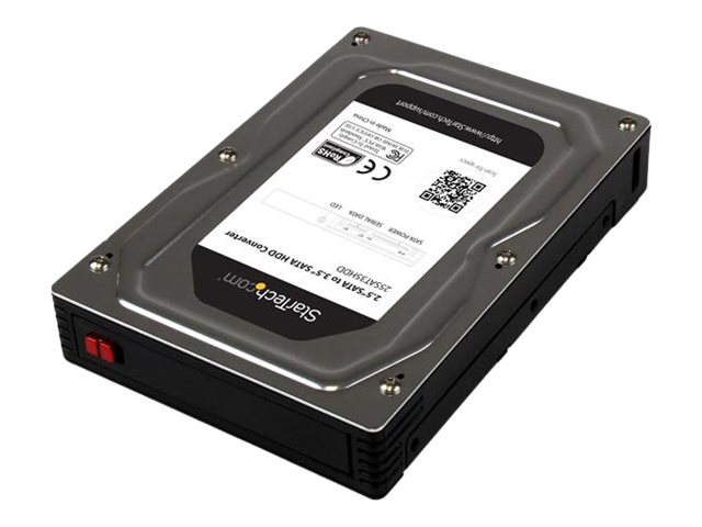 "StarTech.com 2.5"" to 3.5"" SATA Aluminum Hard Drive Adapter Enclosure w  Solid State Hard Drive Height to 12.5mm, 25SAT35HDD"
