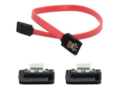 ACP-EP Latching SATA to SATA F F Cable, Red, 1.5ft, 5-Pack