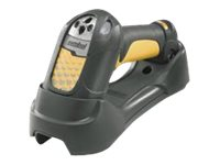 Zebra Symbol LS3578-ER Charging Communications Cradle, RS-232 I F Cable, BT, Extended Range, Cordless, Yellow