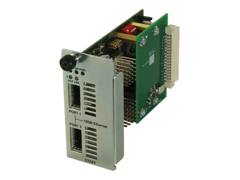 Transition 10G Fiber to Fiber Converter Card XFP to XFP