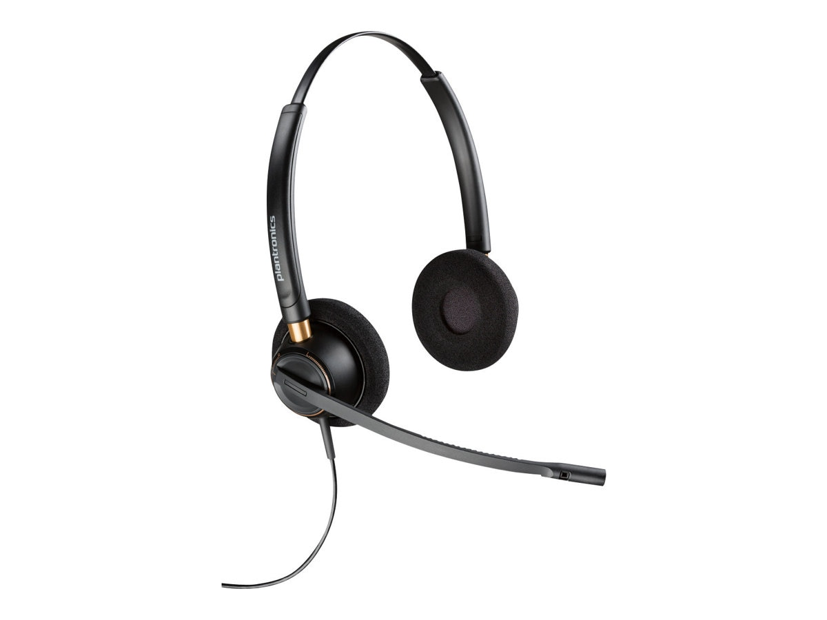 Plantronics HW520 Encore Binaural Noise Cancelling Headset w  Mic, 89434-01, 17997468, Headsets (w/ microphone)