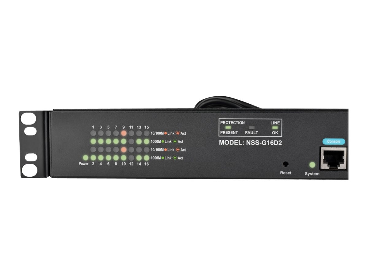 Tripp Lite 16-Port Gigabit Managed Switch w 2xGb SFP, 8-Outlet PDU, NSS-G16D2