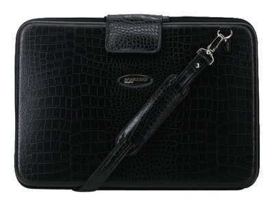 Mobile Edge Faux-Croc TechStyle Portfolio, Black, MEPFC1-L, 6371072, Carrying Cases - Notebook