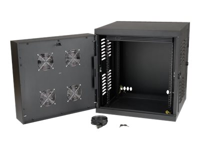 Tripp Lite SmartRack 12U NEMA 12 Industrial Wall-Mount Enclosure with Doors, Side Panels, SRW12USNEMA