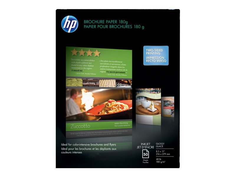 HP Professional Brochure & Flyer Paper, Gloss, 8.5x11 C6817A