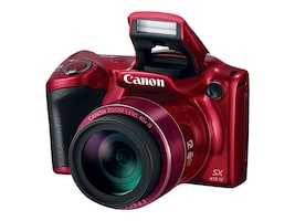 Canon PowerShot SX410 IS Digital Camera, 20MP, 40x Zoom, Red, 0108C001, 18891585, Cameras - Digital