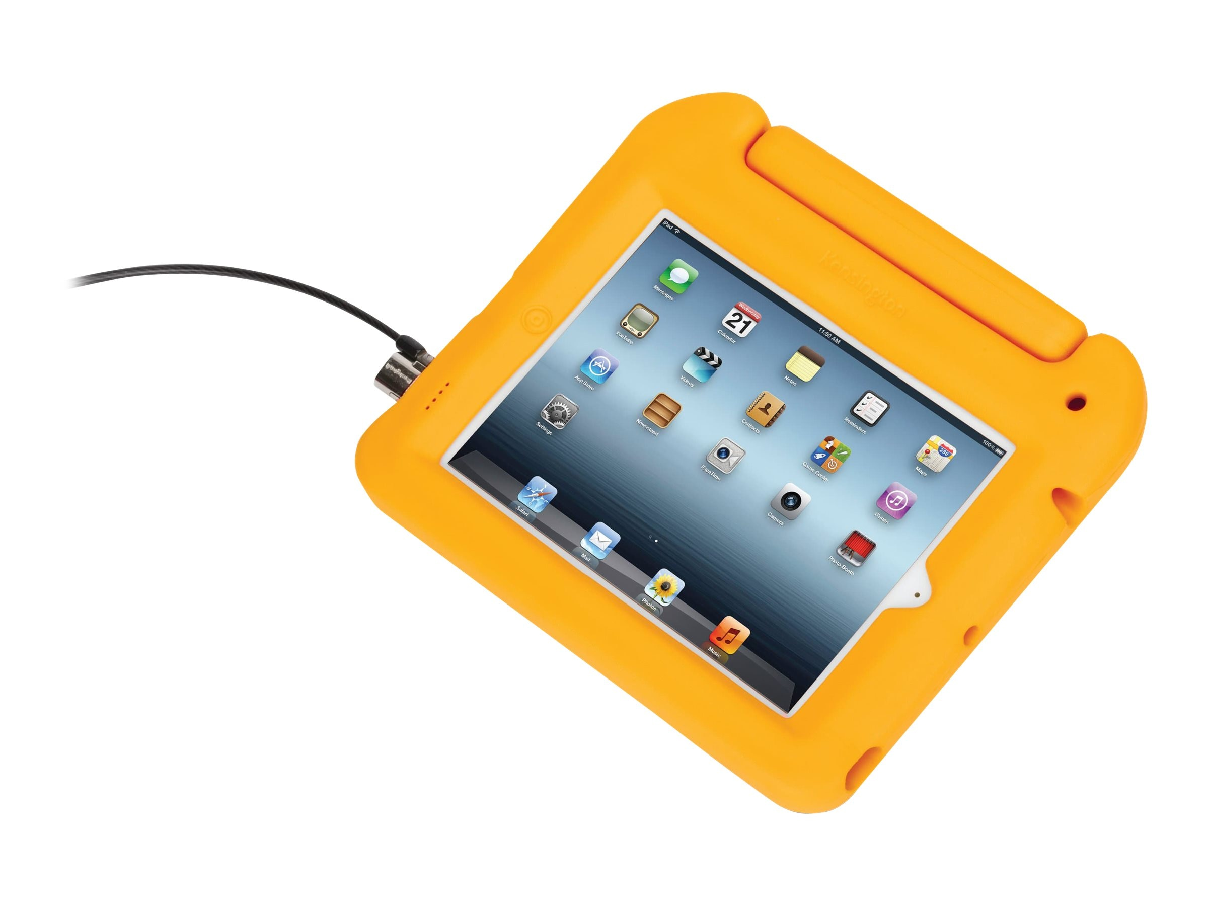 Kensington Safegrip Security Case with Lock for iPad, Yellow