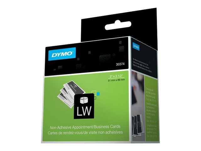 DYMO 2 x 3.5 Standard Non Adhesive LabelWriter Labels (1 Roll 300 Labels-per-Roll), 30374