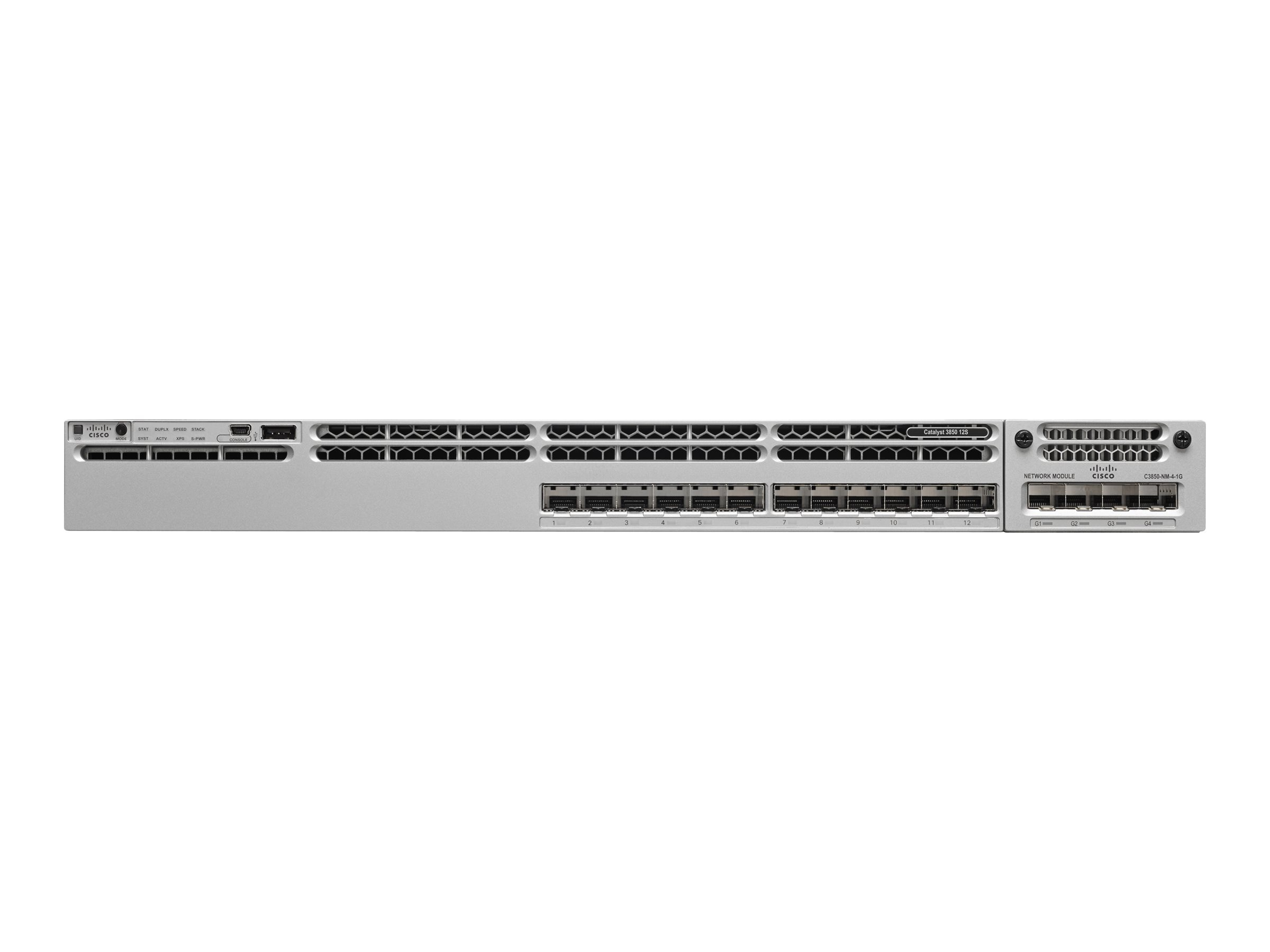 Refurb. Cisco Refurb. Catalyst 3850 12-port GE SFP IP Base, Cisco Warranty, WS-C3850-12S-S-RF