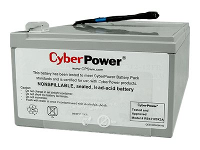 CyberPower Replacement Battery Pack 12V 12Ah, Pre-assembled for PR1000LCD UPS, RB12120X2A, 22248390, Batteries - Other