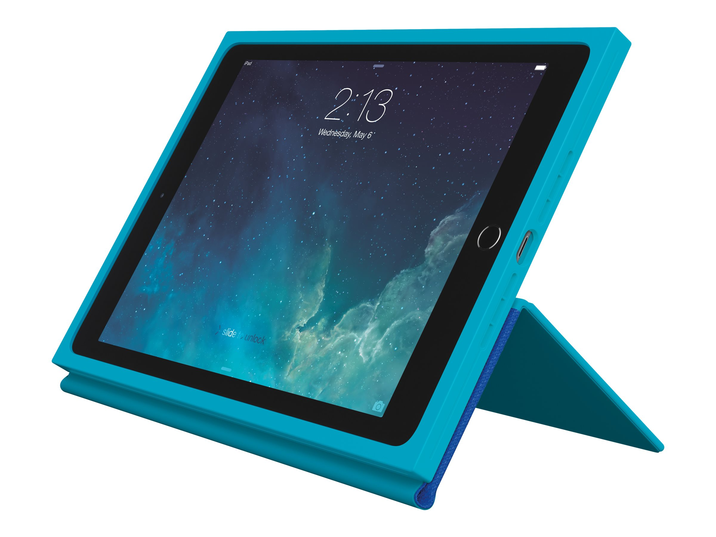Logitech BLOK Protective Keyboard Case for iPad Air 2, Teal Blue, 920-007419