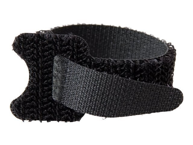 C2G 6 Hook & Loop Cable Management Straps - 12-pack Black