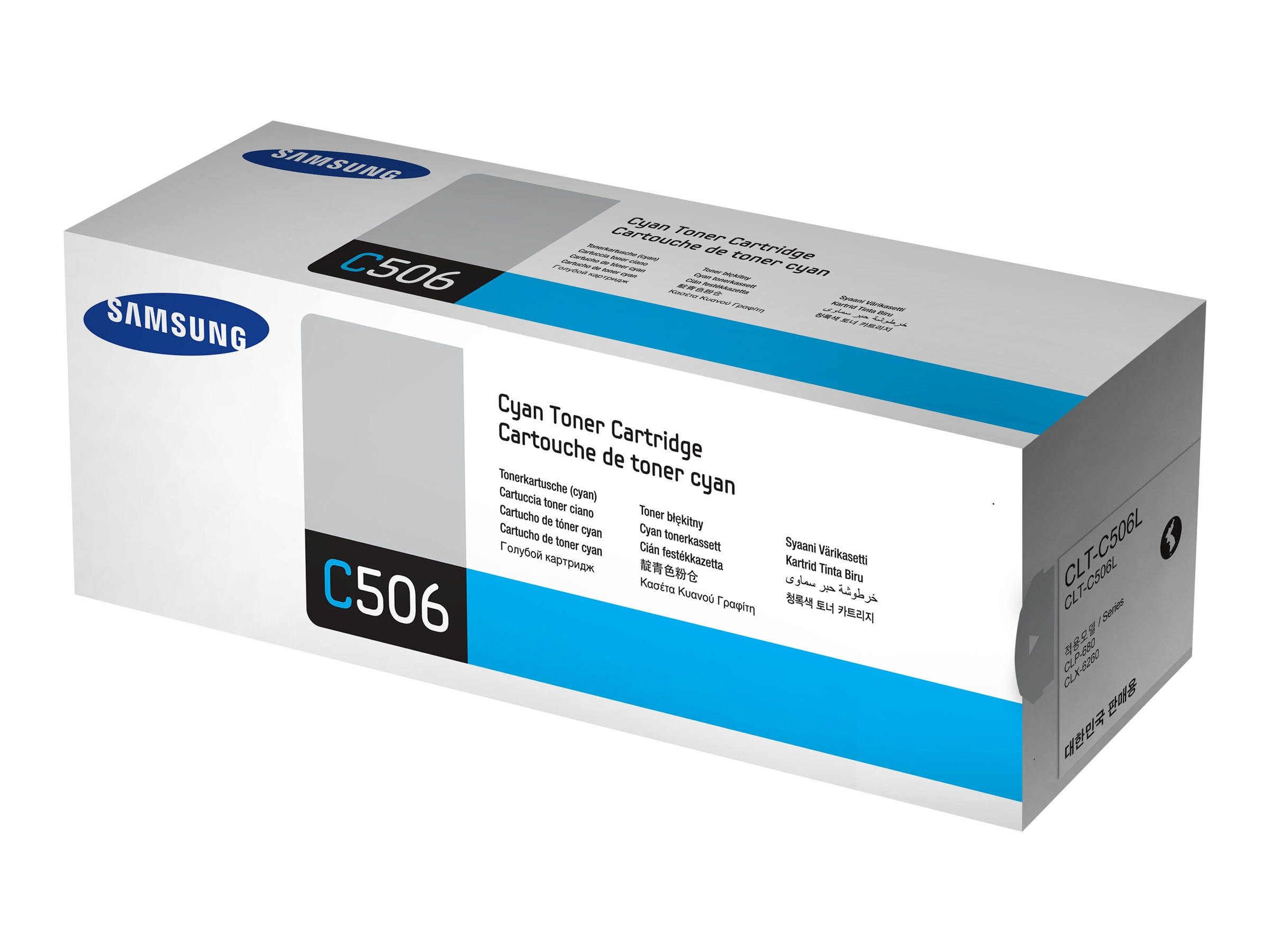Samsung Cyan High Yield Toner Cartridge for CLX-6260FD & CLX-6260FW Color MFPs & CLP-680ND Color Printer