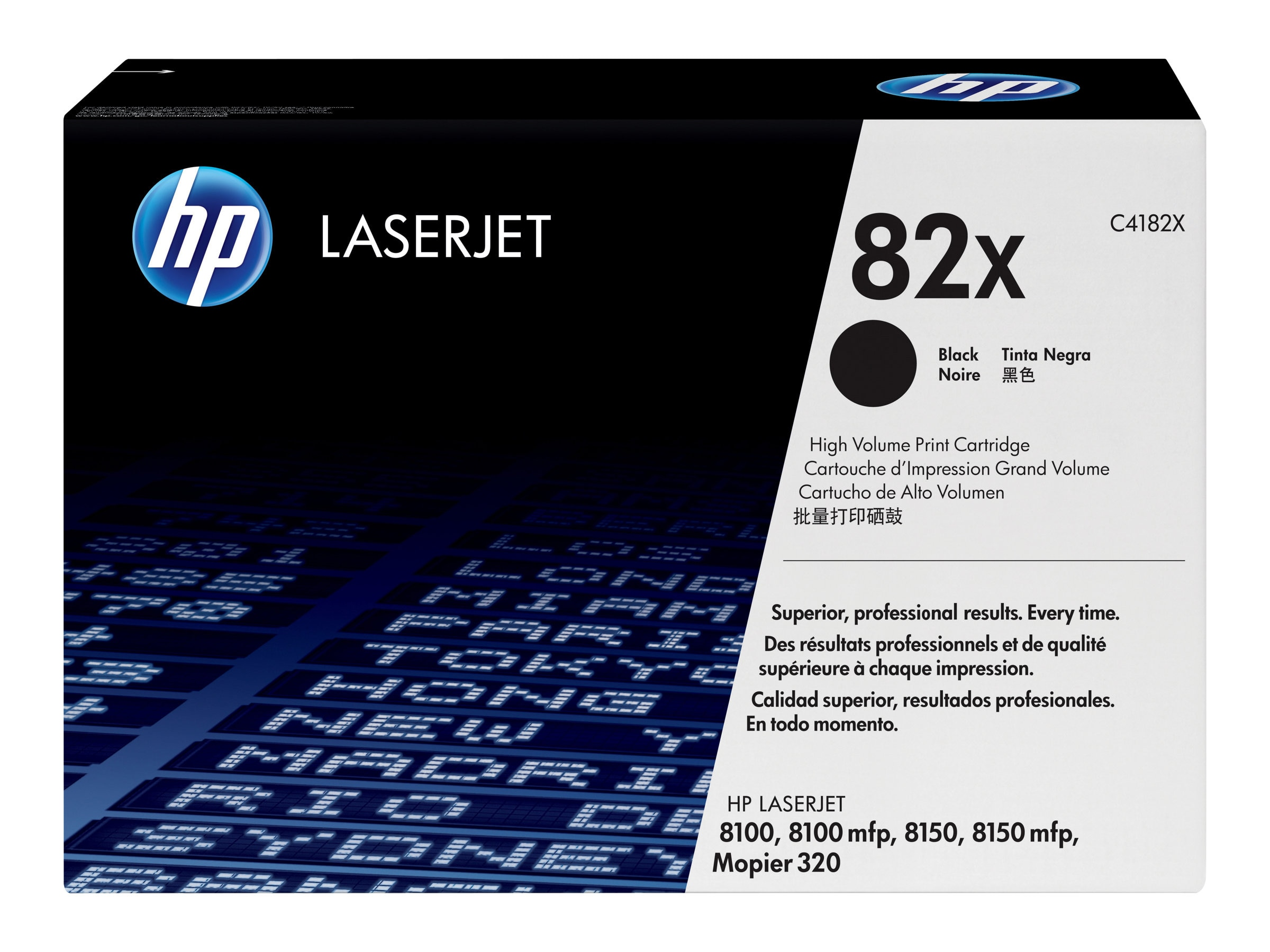 HP 82X (C4182X) High Yield Black Original LaserJet Toner Cartridge for HP LaserJet 8100 & 8150 Series