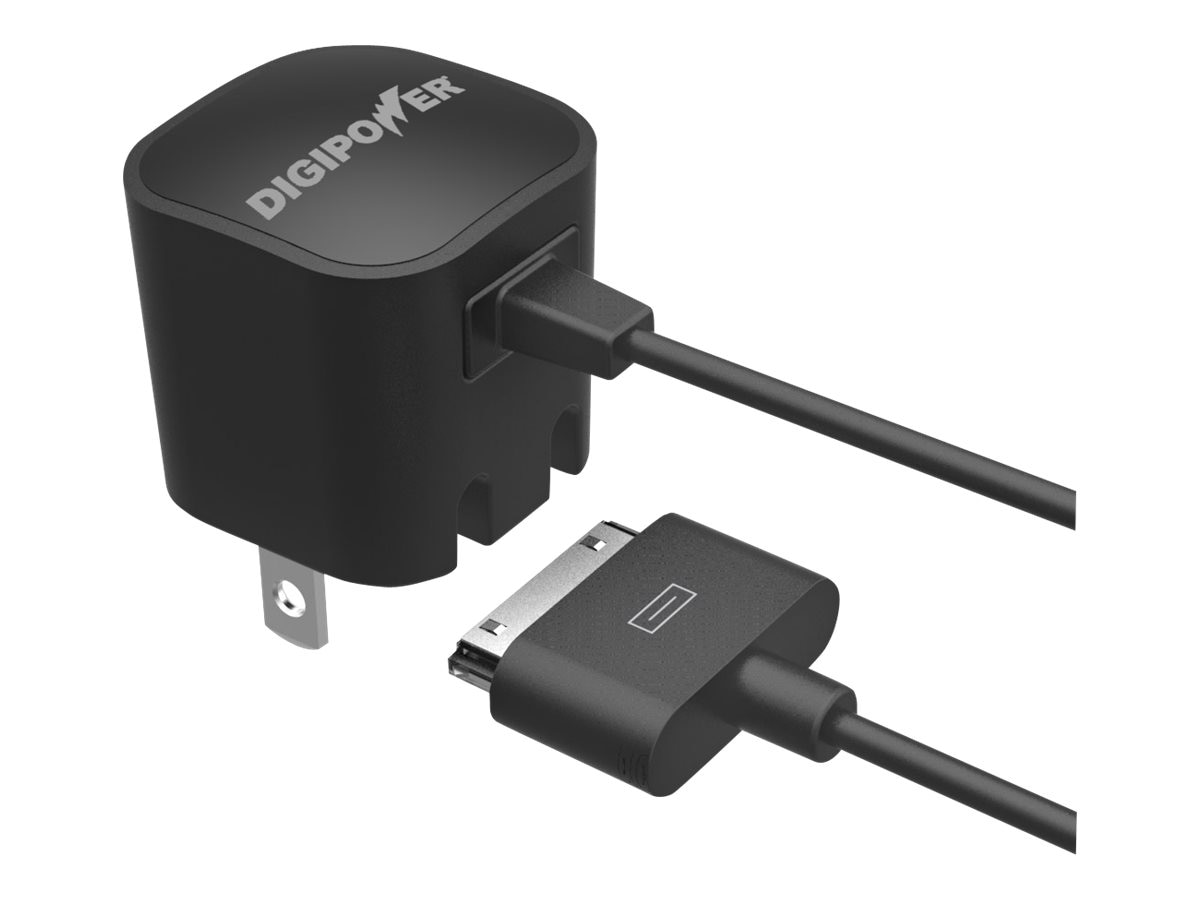 DigiPower Wall Charger w  30-Pin Cable, 5W 1A for iPhone, iPod Touch Nano, IP-AC1IP-T