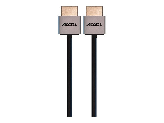 Accell UltraThin HDMI Compact Connector Cable with Ethernet, 36AWG, 3ft