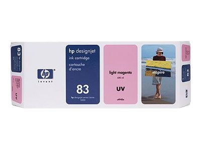 HP 83 Light Magenta UV Ink Cartridge, C4945A, 301558, Ink Cartridges & Ink Refill Kits