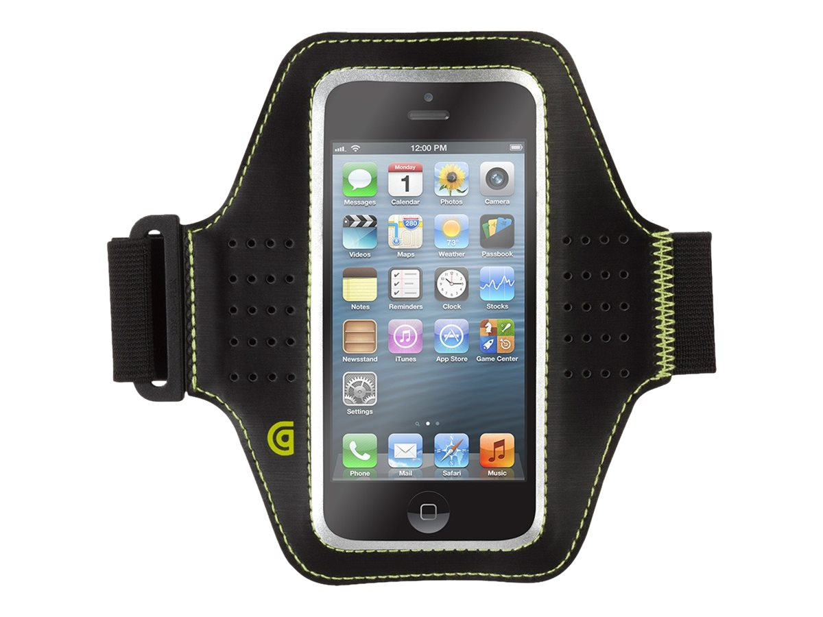 Griffin Trainer Armband for iPhone 5 5s 5c & iPod touch (5th gen), Black, GB36033-2, 18315107, Cellular/PCS Accessories - iPhone