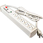 C2G Wiremold 6-Outlet Plug-In Center Unit 120V 15A Lighted Switch Computer Grade Surge Strip 15ft, White