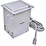C2G Wiremold InteGreat A V Table Box, Aluminum