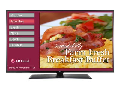 LG 48.5 LX570H Full HD LED-LCD Hospitality TV, Black, 49LX570H, 21403010, Televisions - LED-LCD Commercial