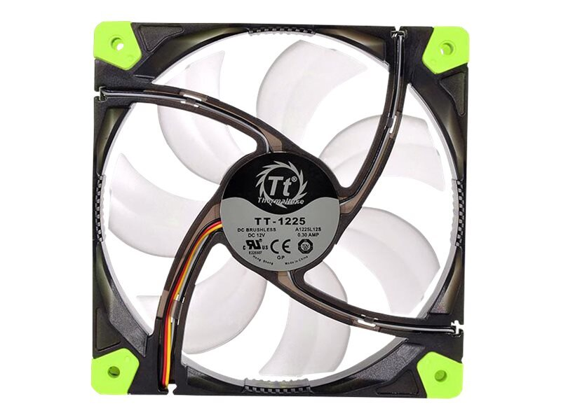 Thermaltake Luna 12 LED 120mm Fan 1200 RPM, Green, CL-F009-PL12GR-A, 19748916, Cooling Systems/Fans