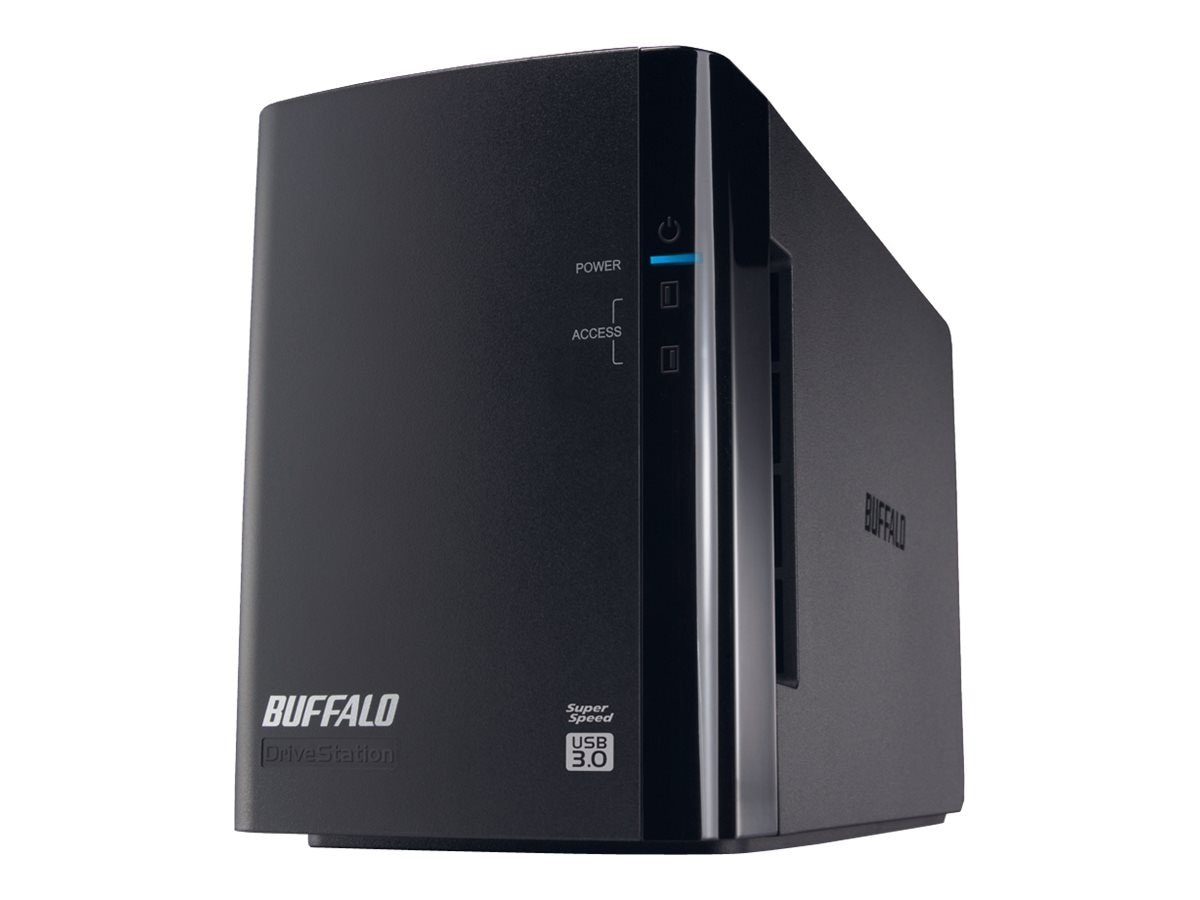 BUFFALO 4TB DriveStation Duo USB 3.0 External Hard Drive, HD-WH4TU3R1, 17600539, Hard Drives - External