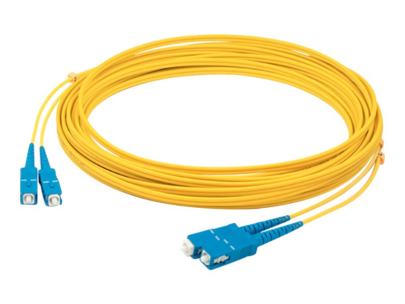 ACP-EP SC-SC OS1 Singlemode Duplex Fiber Patch Cable, Yellow, 4m, ADD-SC-SC-4M9SMF
