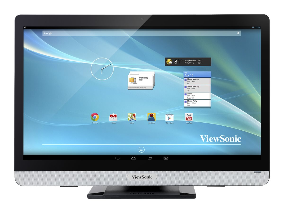 ViewSonic VSD231 Smart Display AIO Client Tegra QC T40S 1.6GHz 2GB 8GB SSD bgn BT WC 23 FHD MT Android 4.3, VSD231-BKA-US0, 17435289, Thin Client Hardware