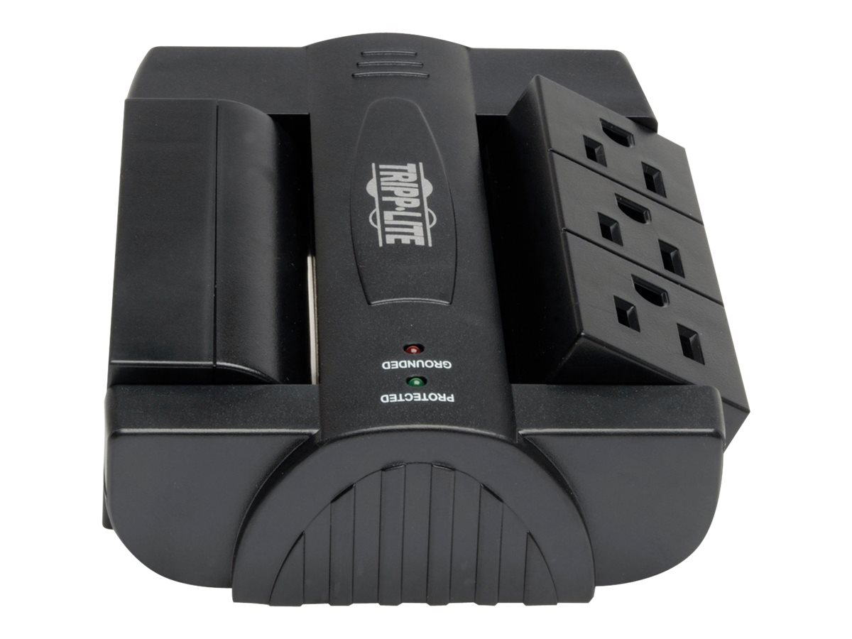 Tripp Lite Protect It! Ultra Surge (6) Swivel Outlet Direct Plug-in 1500 Joules, Black, SWIVEL6