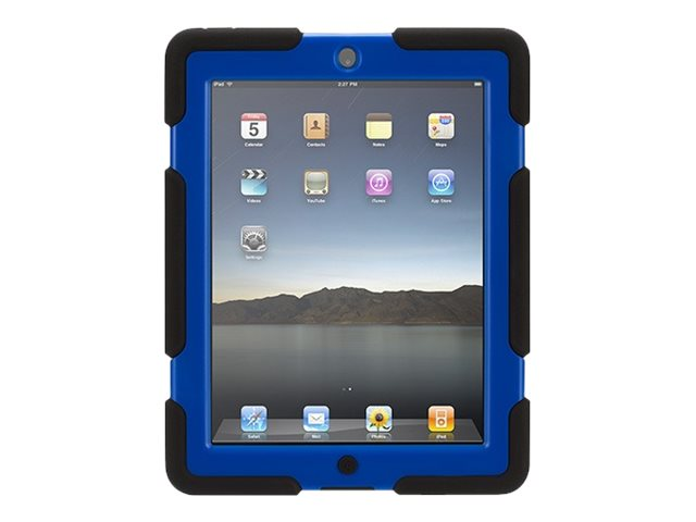 Open Box Griffin Survivor All-Terrain for iPad 2 3 4, Black Blue, GB35380-3, 31141105, Carrying Cases - Tablets & eReaders