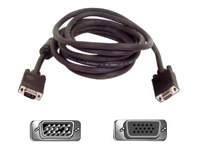 Belkin VGA SVGA Monitor Extension Cable, 25ft, F3H981-25, 142102, Cables