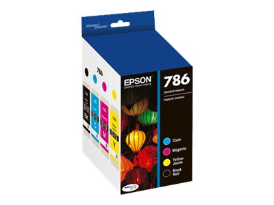 Epson 786 Black & Color Combo Ink Pack, T786120-BCS