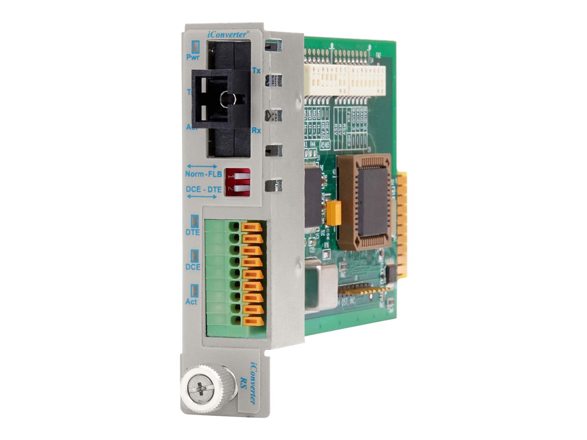 Omnitron iConverter RS422 485 Terminal SC SM 1310NM 1550NM 20KM SF Module, 8790T-1, 12910378, Network Transceivers