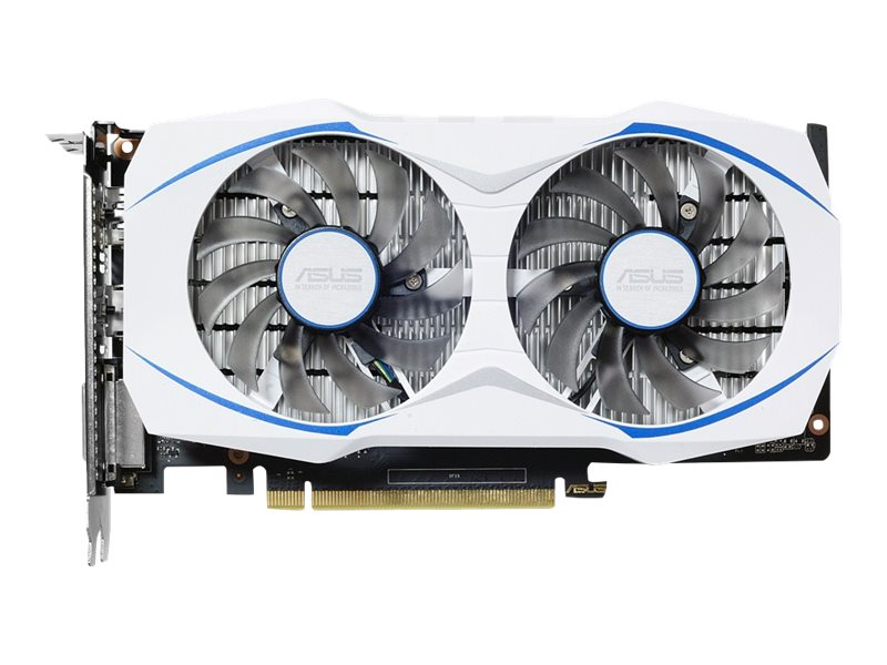 Asus GeForce GTX 1050 TI PCIe 3.0 Graphics Card, 4GB GDDR5, DUAL-GTX1050TI-O4G