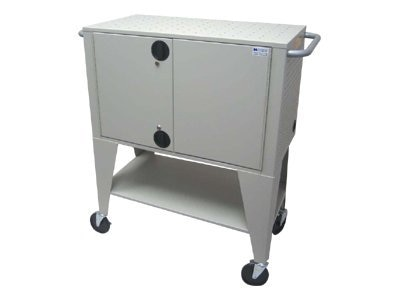 Datamation Notebook Security Cart (10-Mod) Protects Recharges (10) Laptops, DS-NSC-10, 7491691, Computer Carts