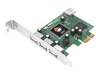 Siig 4-Port Hi-Speed USB PCI-Express DP Controller, JU-P40112-S1, 8879806, Controller Cards & I/O Boards