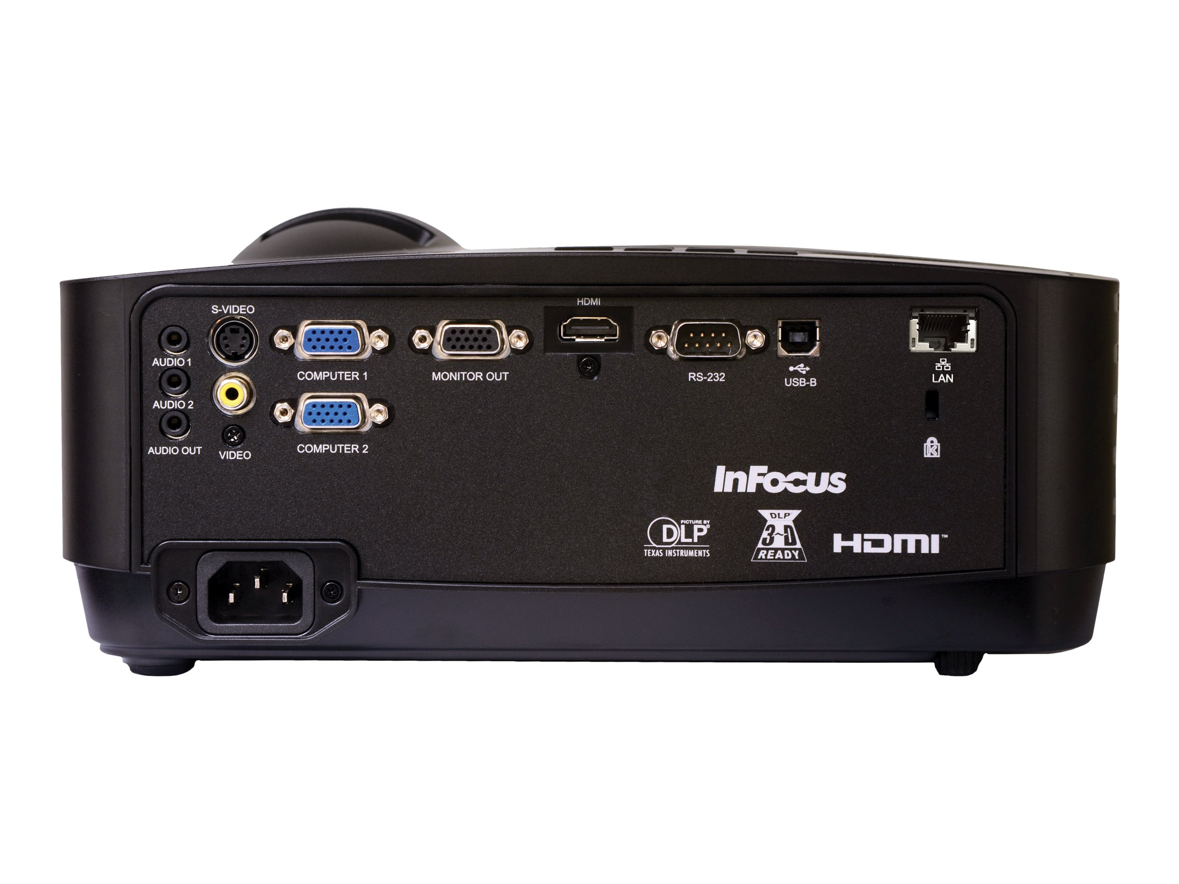 InFocus IN128HDX 1080p 3D DLP Projector, 4000 Lumens, Black, IN128HDX