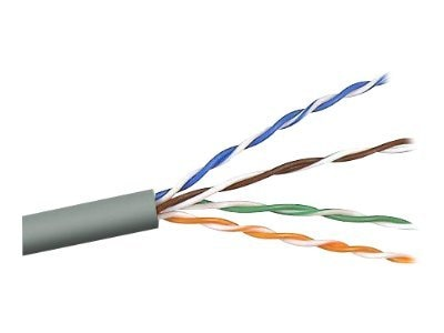 Belkin Cat5e Bulk Solid Cable, Plenum, Gray, 1000ft, A7L504-1000-P