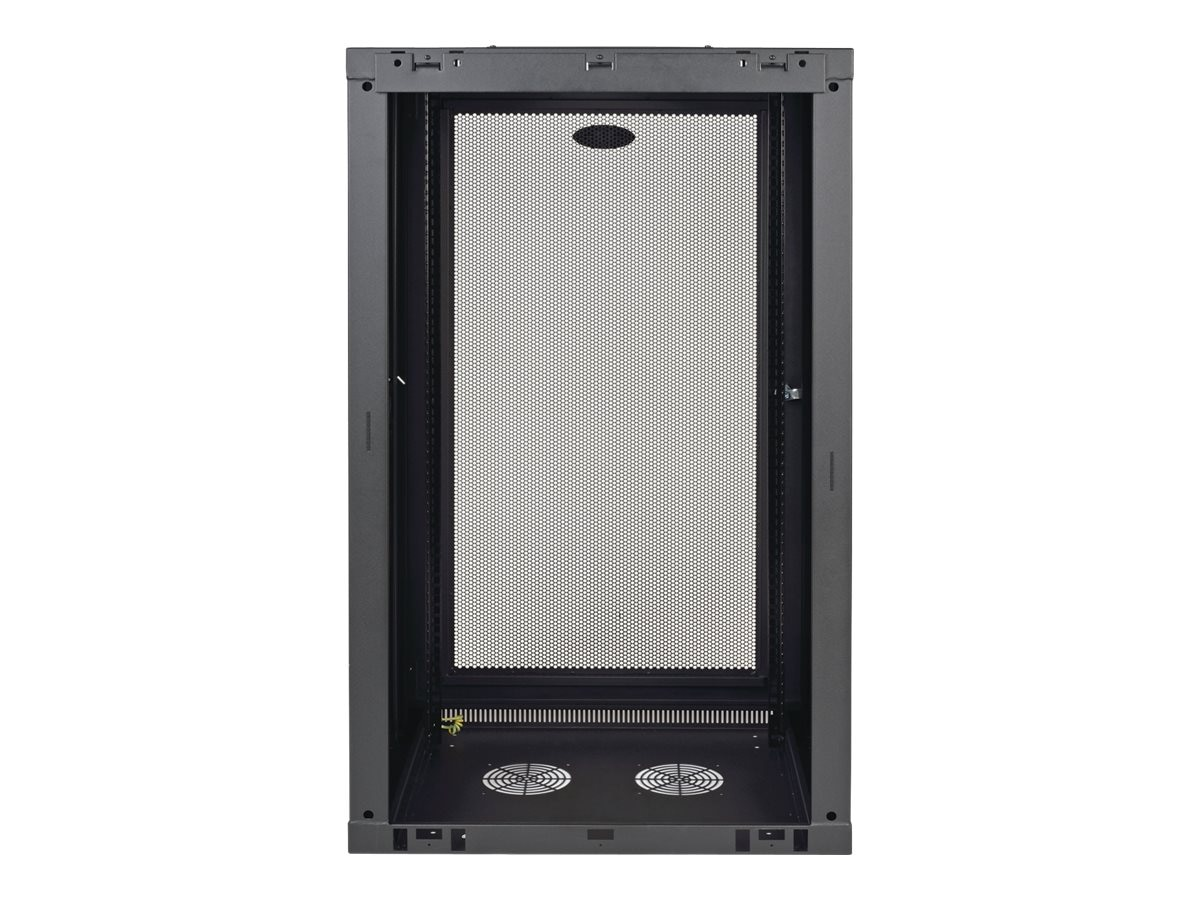 Tripp Lite SmartRack Wall-Mount Standard-Depth Rack Enclosure Cabinet, 21U, Black, SRW21U