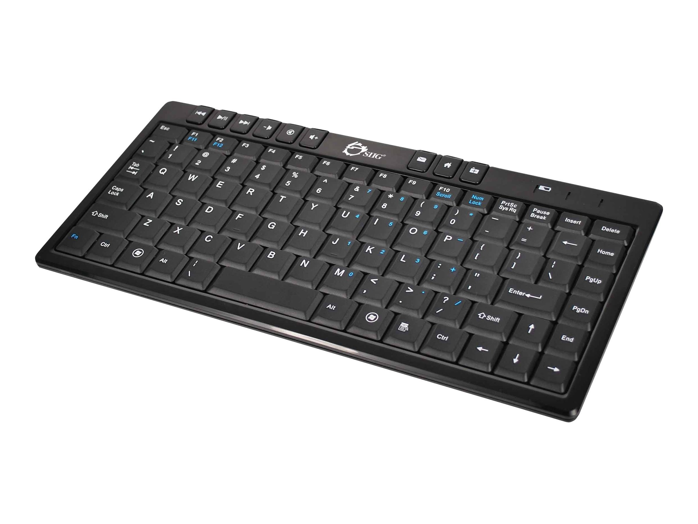 Siig Wireless Ultra Slim MM Mini Keyboard, JK-WR0612-S1