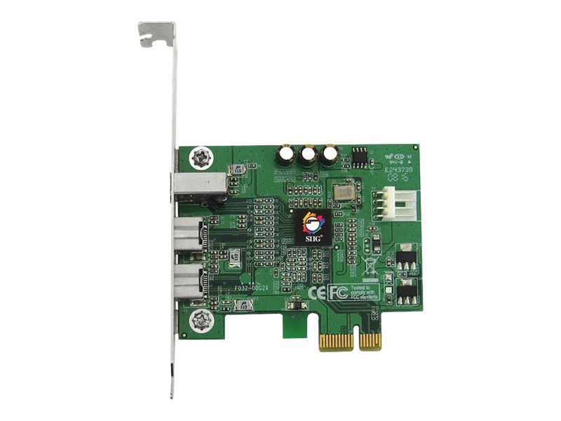 Siig FireWire 800 (2x 9-pin, 1x 6-pin) 3-Port PCIe Card, NN-E38012-S3, 9764613, Controller Cards & I/O Boards