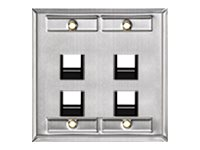 Leviton Special Wallplate, Angled, 43081-2L4, 17751089, Premise Wiring Equipment